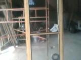 Prodám nové dřevěné zdvojené balkonové dveře 90/220 levé