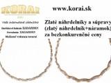 Zlaté náhrdelníky a súpravy od KORAI šperky