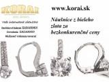 Z bieleho zlata náušnice od KORAI šperky