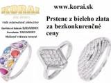 Prstene z bieleho zlata od KORAI šperky