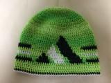 zelená čepice obvod 44-48 vyška 18cm