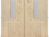 - Palubkové dveře dvoukřídlé 145cm sklo na obou křídlech s příčkou