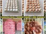 Venkovská vejce z volného výběhu a jedlé brambory 15 kg