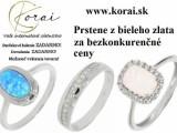 Prstene z bieleho zlata KORAI