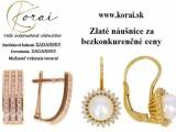 Zlaté náušnice Korai